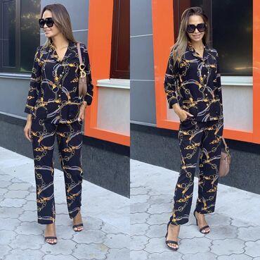 Личные вещи в Баетов: Продаю стильную двойку в пижамном стиле. Размер 42-44