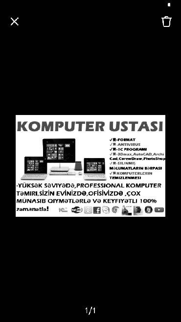 Bakı şəhərində Komputer ustasi  Komputer formati