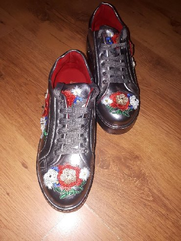 Ženska patike i atletske cipele | Beograd: SNIZENA CENA NOVO NENOSENE - Cvetne patike SENIORAH sa platformom