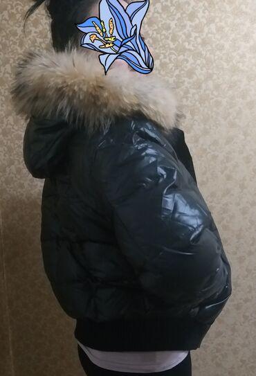 Продаю женские куртки короткая черная мех натуральный удобная халафай