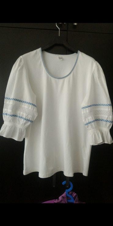 Блуза. хлопок. Новая. Размер XL, L Ткань - в Бишкек