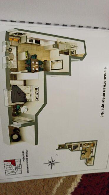 кроксы детские купить в Кыргызстан: Продается квартира: 1 комната, 37 кв. м