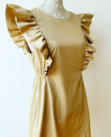 Zara camel haljina sa karnerom, m vel