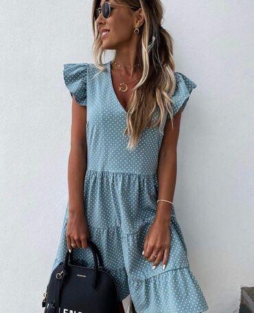 Lagana baggy haljina na tufnice NOVO!* Nova Kolekcija *Dostupne boje