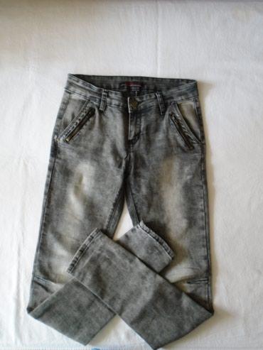 Jako lepe i moderne farmerke uskih nogavica, od kao ispranog, sivog - Belgrade