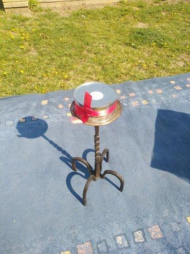 Rasveta | Sombor: Veliki svecnjak od kovanog željeza dekoracija za vase dvorište
