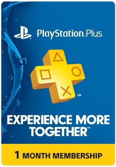 Bakı şəhərində Playstation plus kartı Yenidir