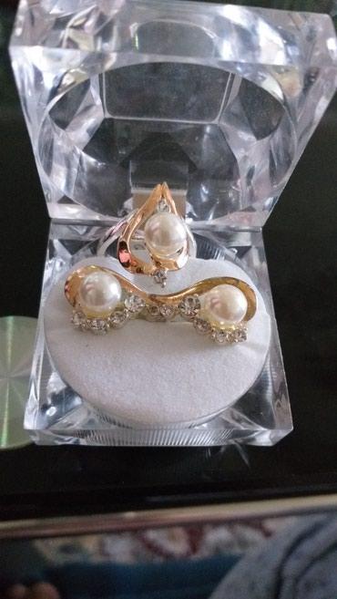 Комплект Серебро натуральное с золотым напылением в Токмак