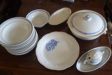 Продаю столовый сервиз, Корея. 15 предметов и плюс круглое блюдо.