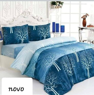 Komplet haljina - Srbija: Pamučne posteljine za francuski ležaj komplet sadrži 2 jastucnice