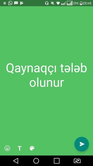 Bakı şəhərində Təcili şıxovda otelə qaynaqçı tələb olunur.əmək haqqı 600
