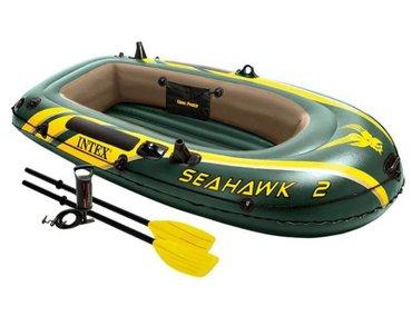 Лодка. Надувная лодка intex seahawk 2 set (68347) в Бишкек