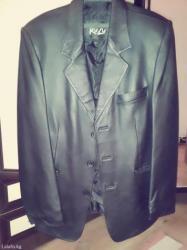 Продаю мужскую кожаную куртку, не ношеная, размер l,1500с в Бишкек