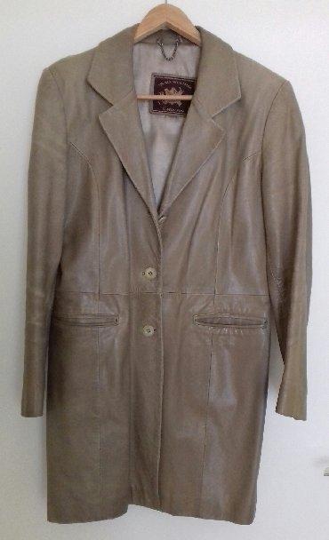 Tro trnerka - Srbija: Strukirana kozna jakna, fine duzine, made in TR, size L, oker