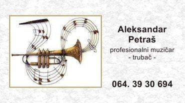 Muzičar - trubač, Stara Pazova orkestar, sviram - Stara Pazova