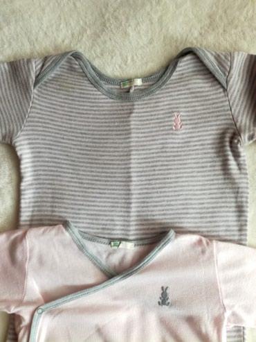 Roze pamuk - Srbija: Benetton svetlo roze bodi i zeka sivo roze.Veličina bodija je 68zeke