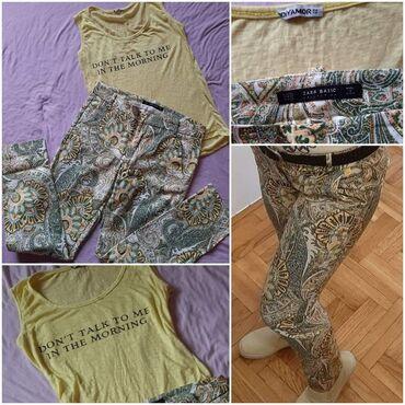 Clio - Srbija: Zara pantalone i majica sa zanimljivim natpisom vel M. Cena za set