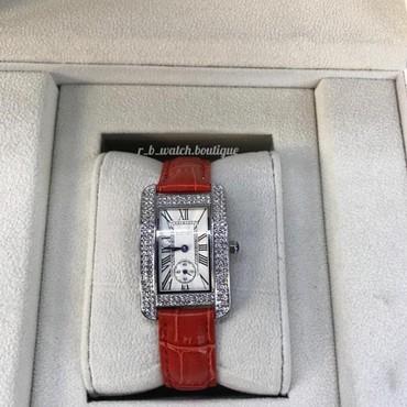qadın üçün dəri krosovkalar - Azərbaycan: Qırmızı Qadın Qol saatları Cartier