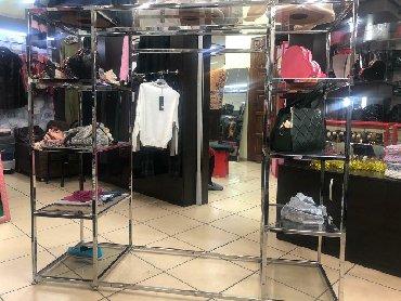 сушилка для одежды в Кыргызстан: Кронштейн для одежды, с встроенными стеклянными полками. Хромированная