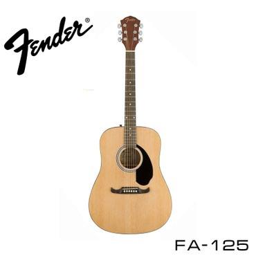 Музыкальные инструменты - Бишкек: Гитара шестиструнная акустическая fender fa-125 dreadnought acoustic