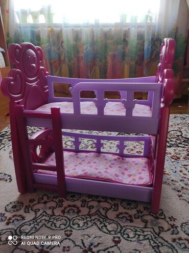 Кроватка двухьярусная для кукол в отличном состоянии,есть коробка