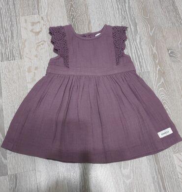 Детский мир - Маевка: Платье на девочку, лён, 68см, новое без этикетки