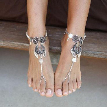 Браслеты в стиле пандора - Кыргызстан: Браслет для ног.  Стиль БОХО 1 штука