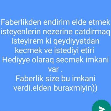 Bakı şəhərində faberlikde qeydiyyatdan kecmekle anbar qiymetine mehsullar elde edin