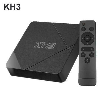 Акция! Тв бокс.Mecool kh3 android 10.0 smart 4k 60fps tv box - черный