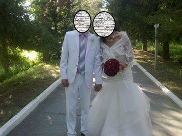 свадебные украшения в Кыргызстан: Продаю шикарное свадебное платье. Цвет айвори, фасон - русалка. верх