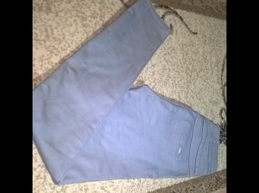 Pantalone-hm-duboke - Srbija: Pantalone- farmerice, elasticne, duboke. Velicina 31. Nosene par puta