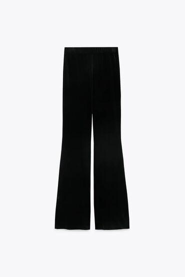 Классические брюки Zara. Фасон - клёш. Цвет - чёрный. Размер : 40