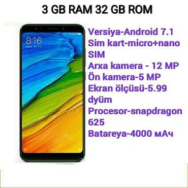 Gəncə şəhərində Xiaomi redmi 5 plus  telefonlar təzədir barter yoxdur kredite verilmir