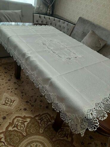 Другие товары для кухни - Кыргызстан: Скатерть с салфетками (6шт) новая (made in Turkey) 135×180см