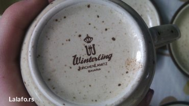 Prelep set šoljice, posuda za mlekooo (može biti i čajnik)  - Cuprija - slika 3