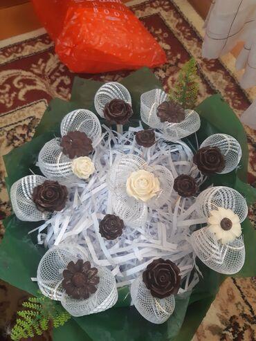 Шоколад pamiyella - Кыргызстан: Розы из шоколада собираю букет