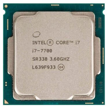 Компьютеры, ноутбуки и планшеты - Бишкек: Продаю процессор i7 CPU Intel Core i7-7700 3.6-4.2GHz,8MB Cache
