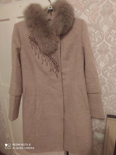 бежевые кюлоты в Кыргызстан: Продам пальто турецкое. Рукава и мех монжно убрать.почти не одела