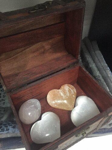 Jewellery Sets - Srbija: Selenit srce, prirodni kamen, cena za komad