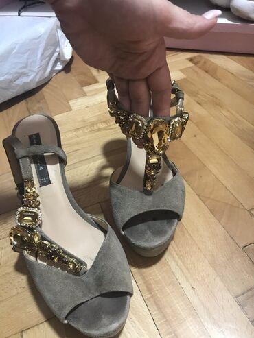 Zlatne sandalice perla br - Srbija: Sandale nosene silvia, 37 br, bez oštećenja