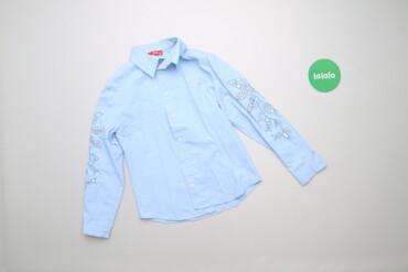 Топы и рубашки - Голубой - Киев: Дитяча сорочка з вишивкою та паєтками M&M, вік 8 р., на зріст 128