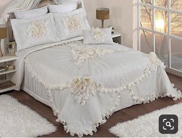 аньго постельное белье в Кыргызстан: Королевский комплект: покрывало+наволочки. Комплект новый, привезли