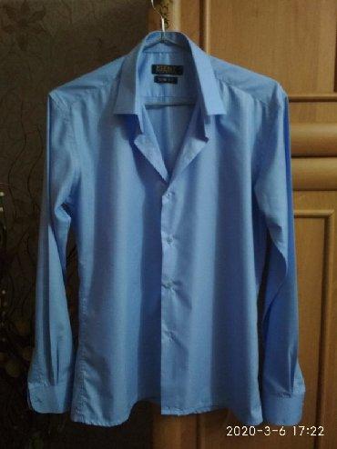 голубая рубашка мужская в Кыргызстан: Мужские рубашки XL