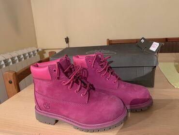 Broj cizme - Srbija: Nove Timberland cizme za devojcice, broj 32,5 kozne, vodootporne, obuv