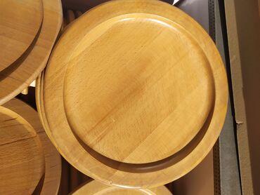 Продам деревянные тарелки, диаметр 26.5см, материал БУК