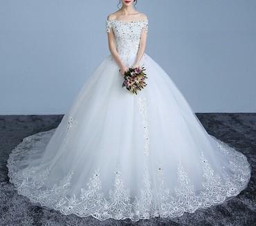 свадебные платья хиджаб в Кыргызстан: Срочно продаю новое,свадебное платье. Размер S M L регулируется