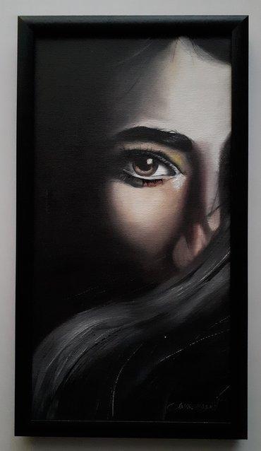 Slike | Lebane: Ulje na platnu, platno kasirano na lesonitu, slika uramljena kao na