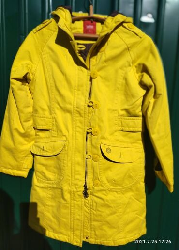 Личные вещи - Кемин: Продается куртка удлиненная Сочно жёлтого цвета Осень-Зима  Размер 44-