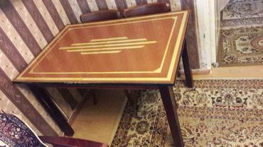 Обеденный стол с 4-мя стульями. Самовывоз. в Bakı