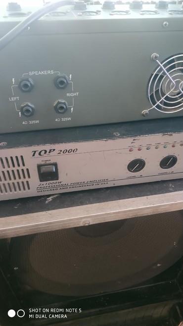 Электроника - Баткен: Усилитель,пудон, калонка, дистанционый микрофон, комплект, ватсап